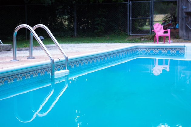 Swimming pool with clear surface.