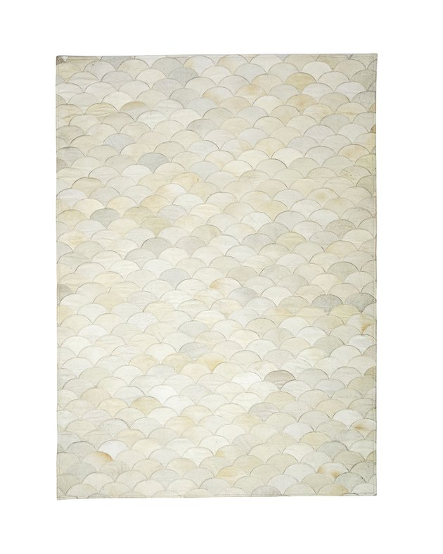 Serena and Lily scalloped hide rug.