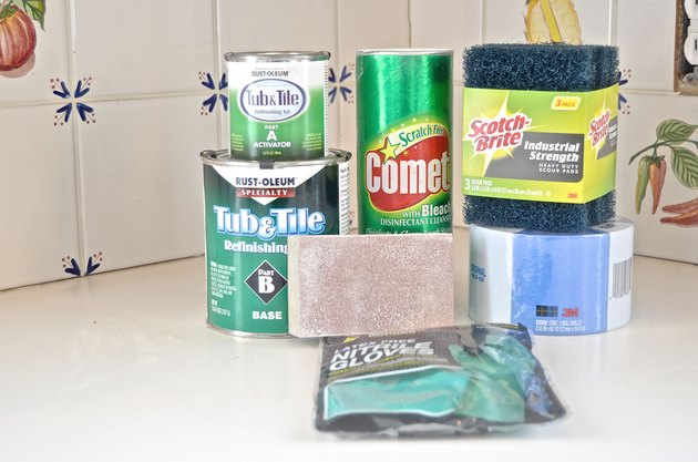 materials required to paint tile