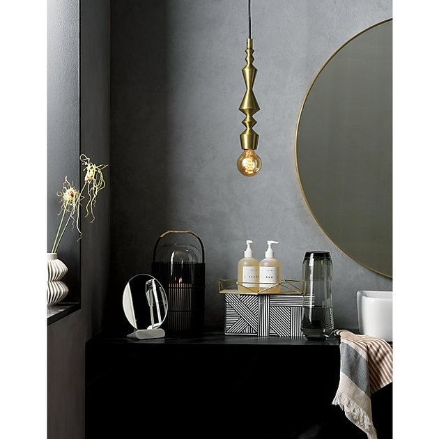 brilliant bathroom light fixture ideas CB2 candlestick pendant lights