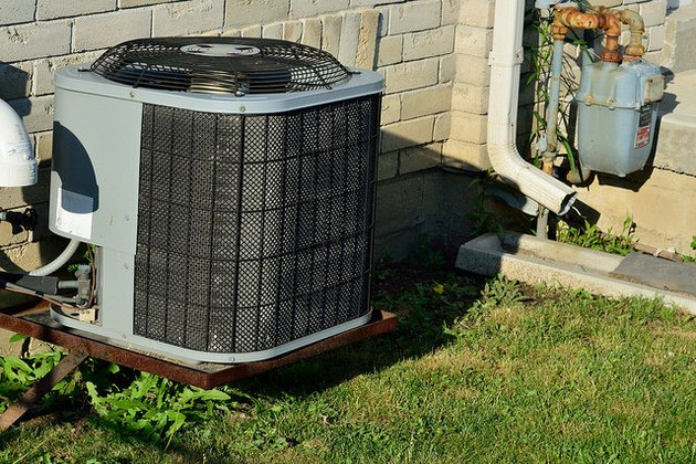 Outdoor air conditioning condenser.