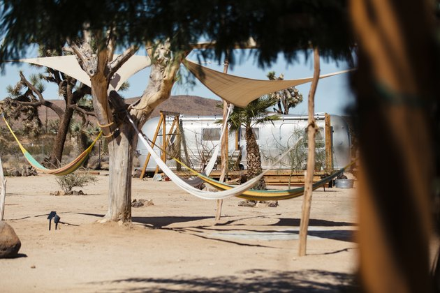 Outdoor space at Joshua Tree Acres