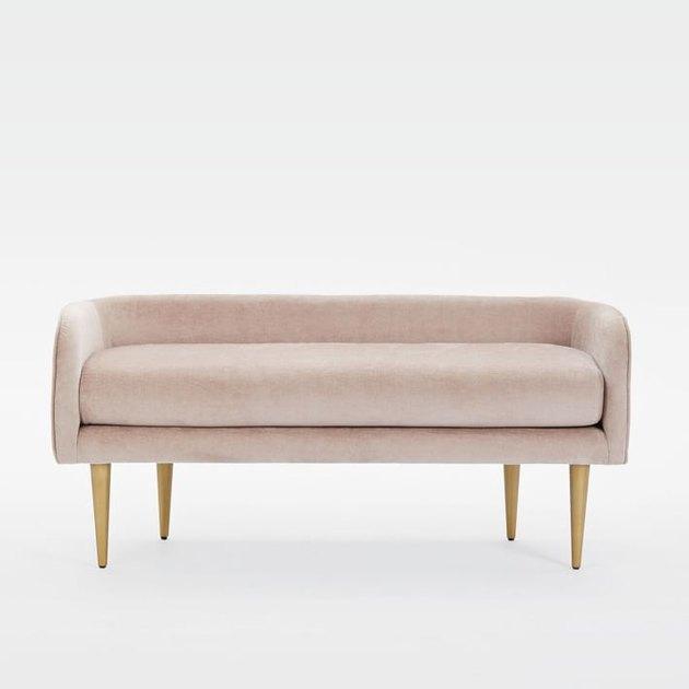 velvet bench