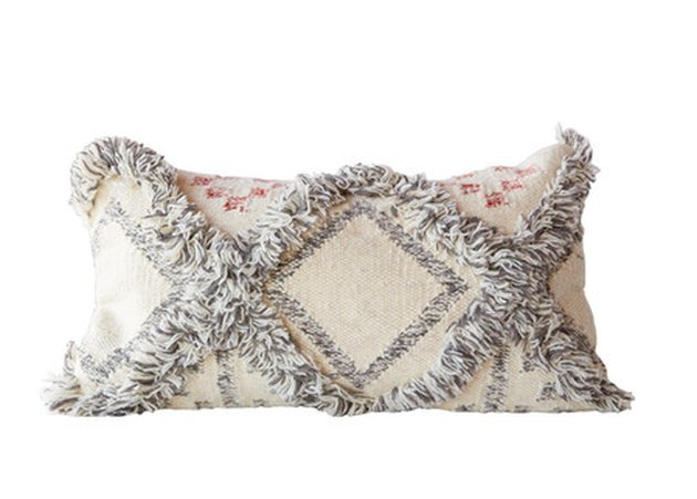 fringed pillow