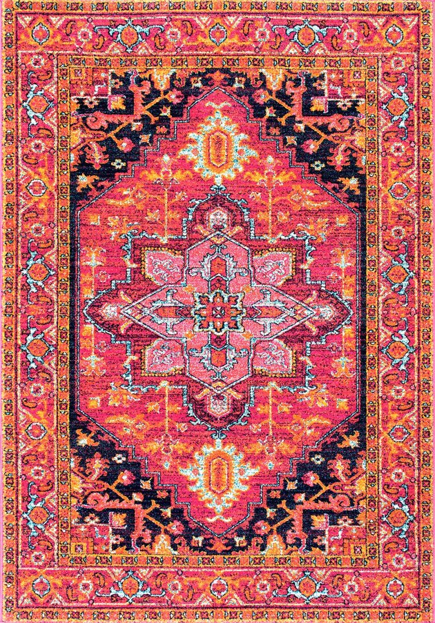 Rugs USA pink and orange rug.