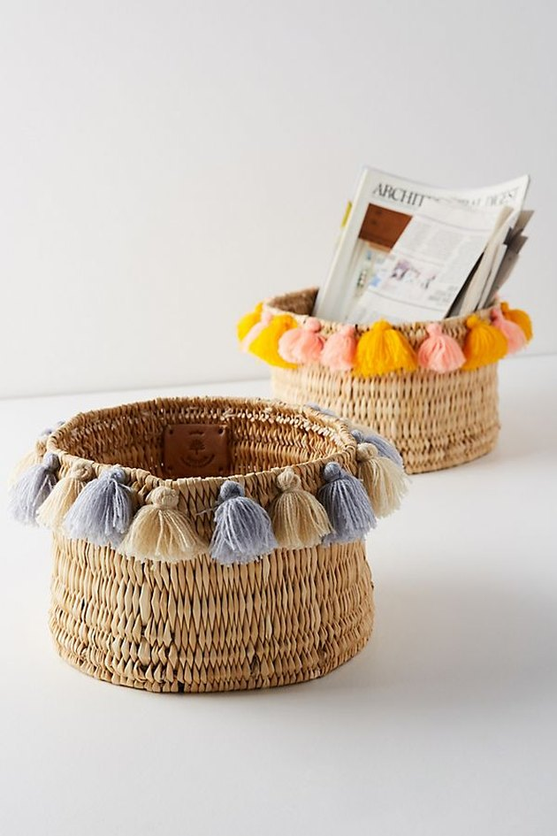 tasseled baskets