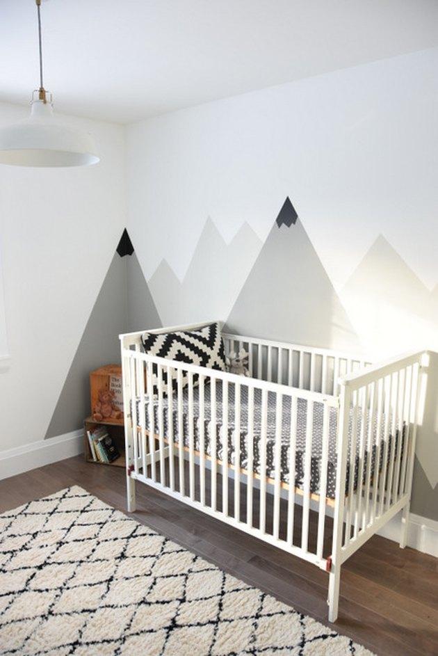 mountain mural nursery diy