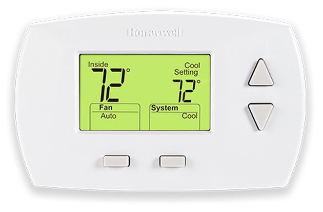 A non-programmable thermostat.