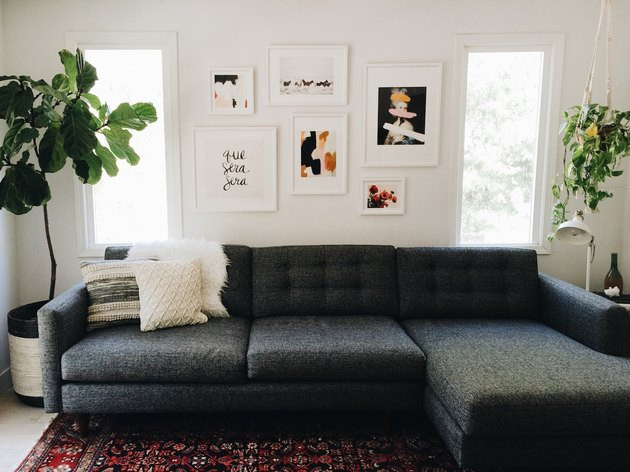 gallery wall art with sectional sofa