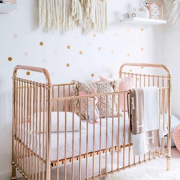 rose gold crib