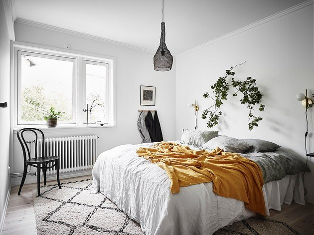 minimal bohemian bedroom