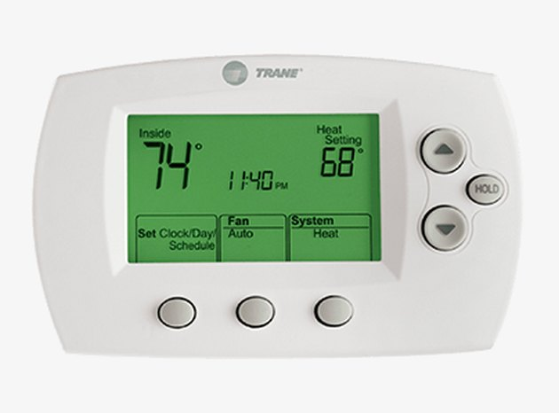 A Trane 600 series thermostat.