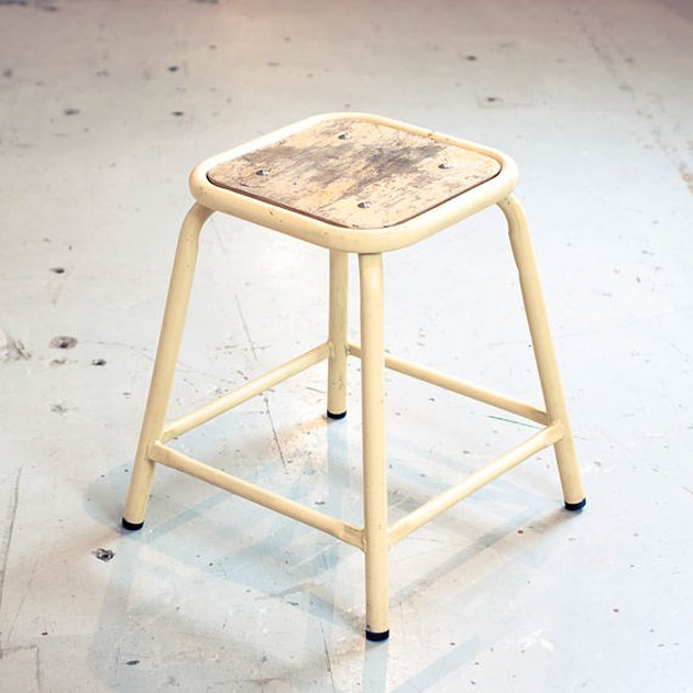OddhausVintage industrial stool.