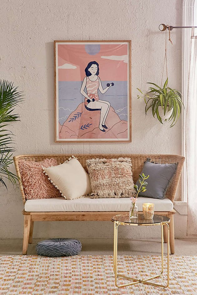 Urban Outfitters rattan sofa.