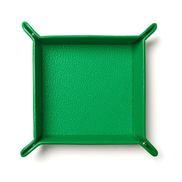 Leatherology green valet tray.