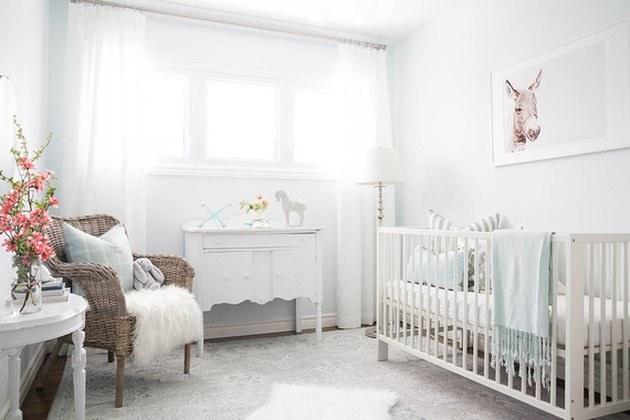 soft pale blue walls nursery