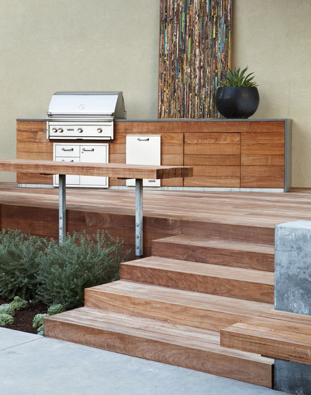 modern outdoor kitchen deck