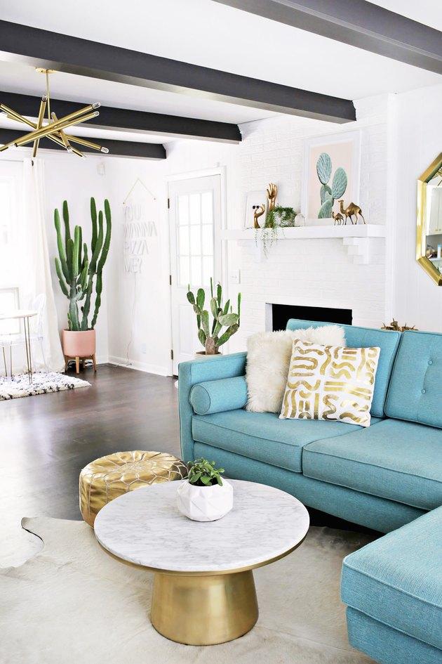 desert chic living room