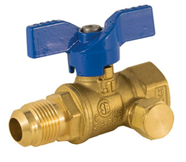 Outdoor gas valve.