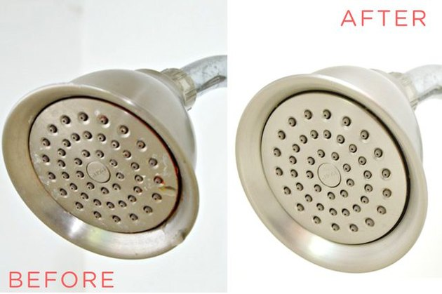 Shower-head before cleaning and after
