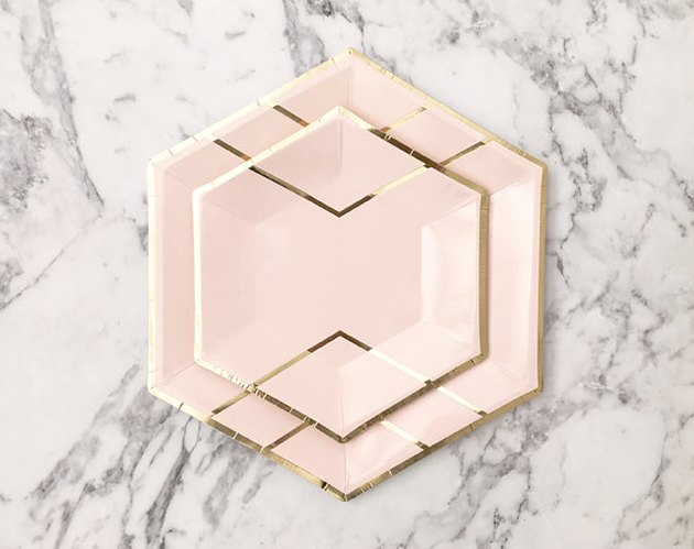 Blush Hexagon Paper Plates