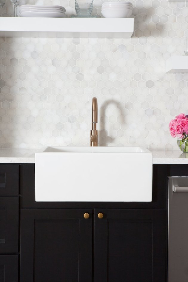 hexagonal marble tile