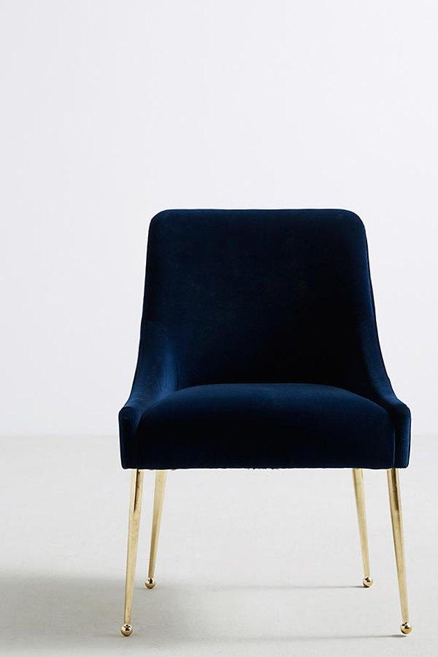 Anthropologie velvet chair.
