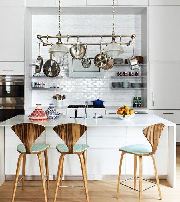 sleek kitchen island
