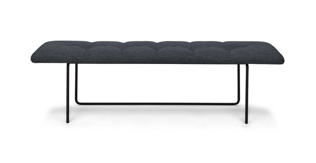 Black tufted bench
