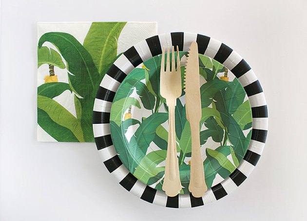 Tropical Leaf Paper Plates