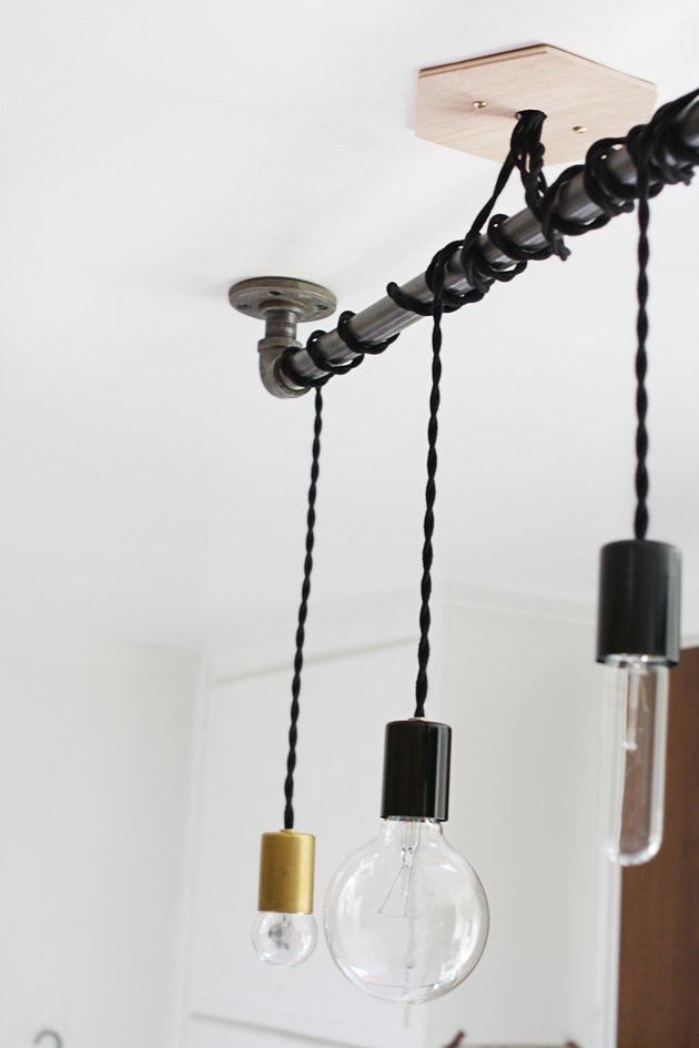 DIY pipe pendant light