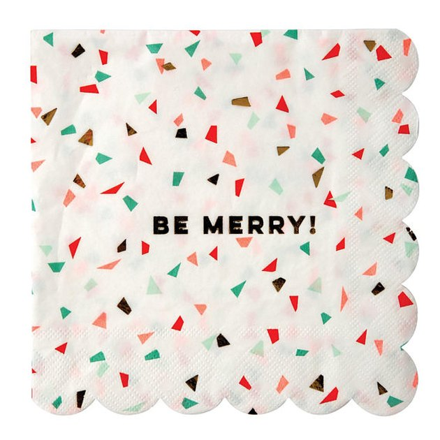 be merry paper napkins
