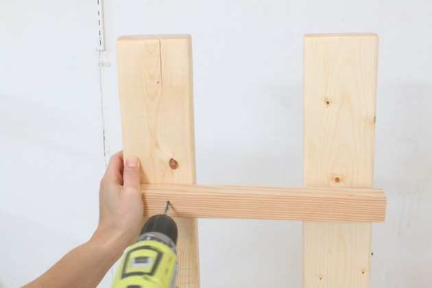 Drilling the first pilot hole