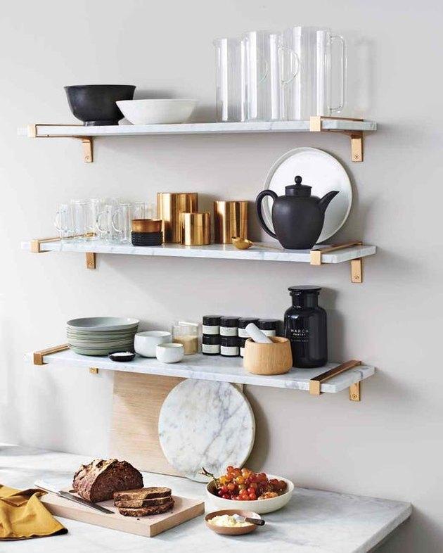 marble shelves