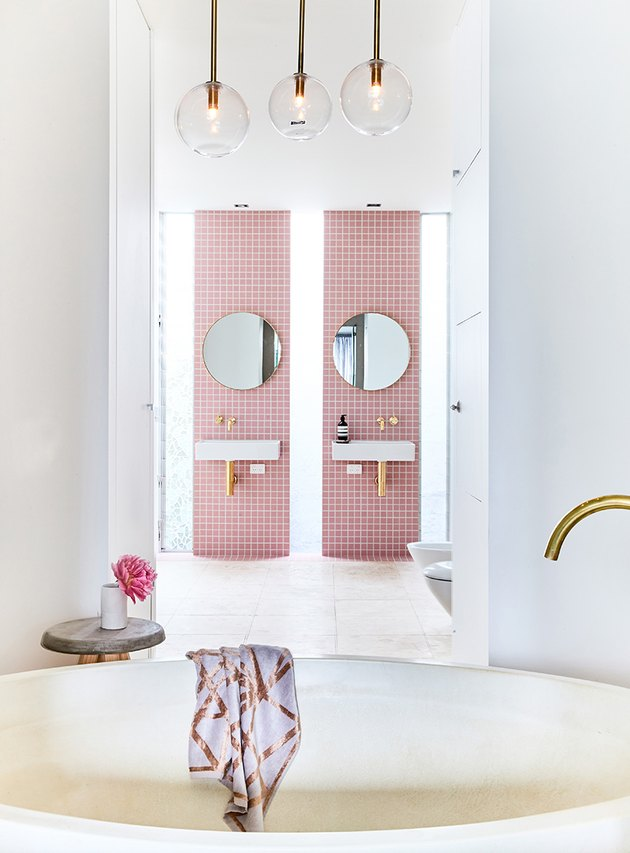 granny pink tiles