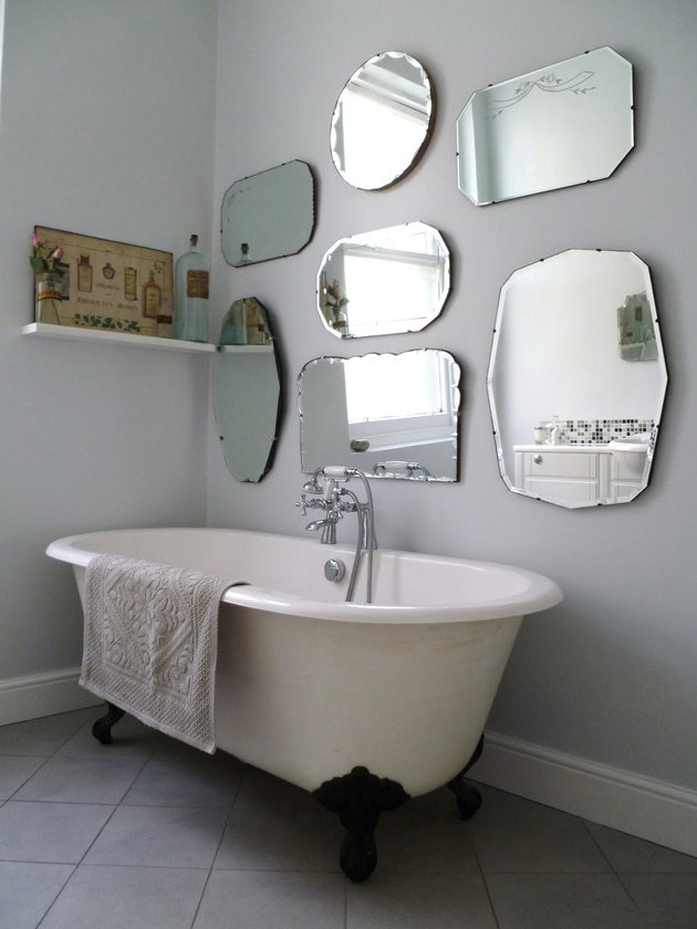 vintage mirror bathroom wall gallery