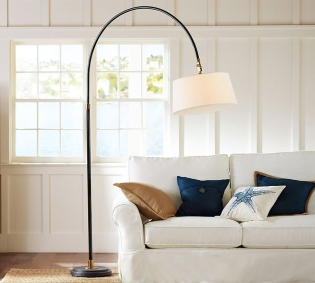 pottery barn arc lamp