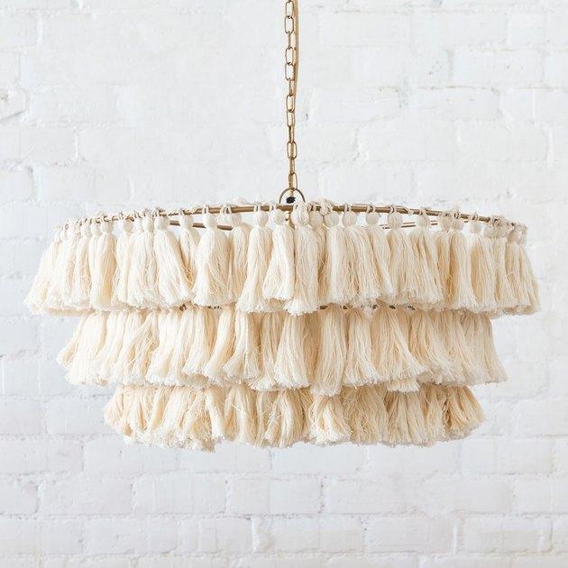 woven chandelier