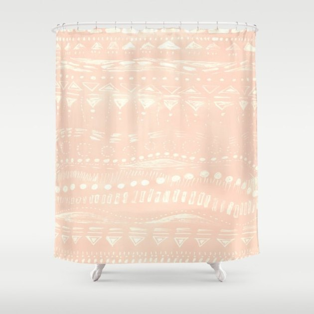 blush shower curtain