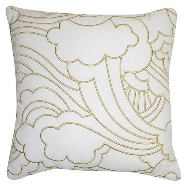 Oh Joy! Cloudscape Gold Embroidered Pillow