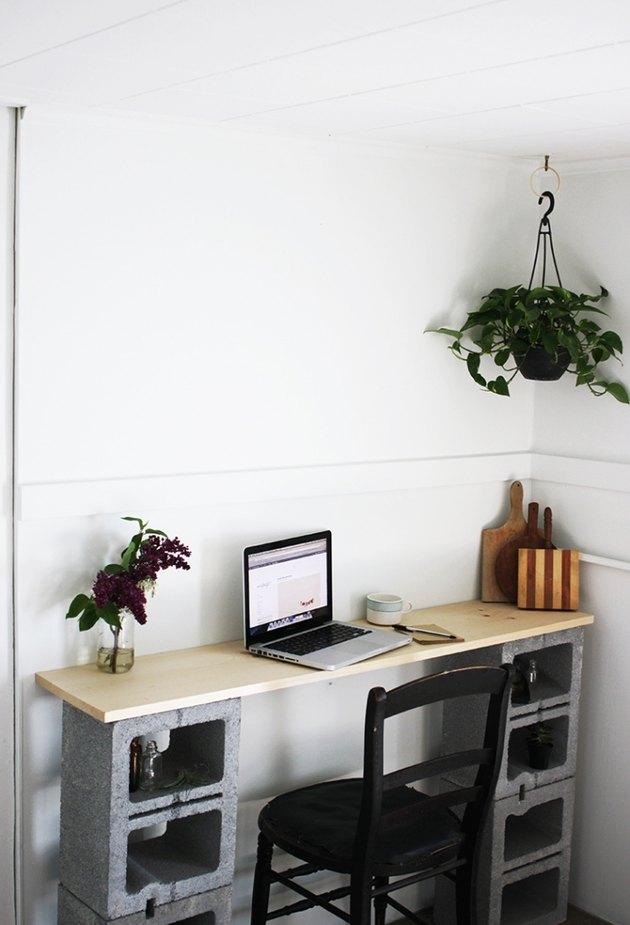 cinderblock desk