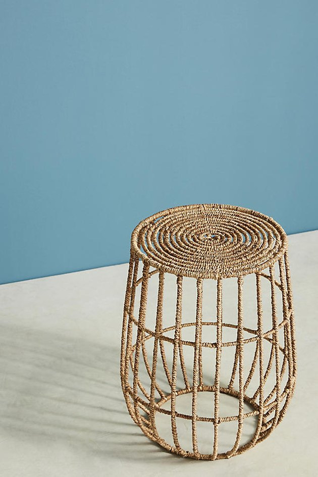 Jute Basket Side Table