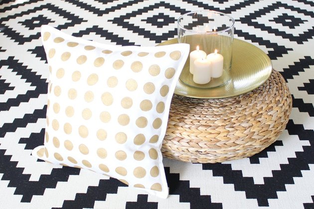 gold dot pillow