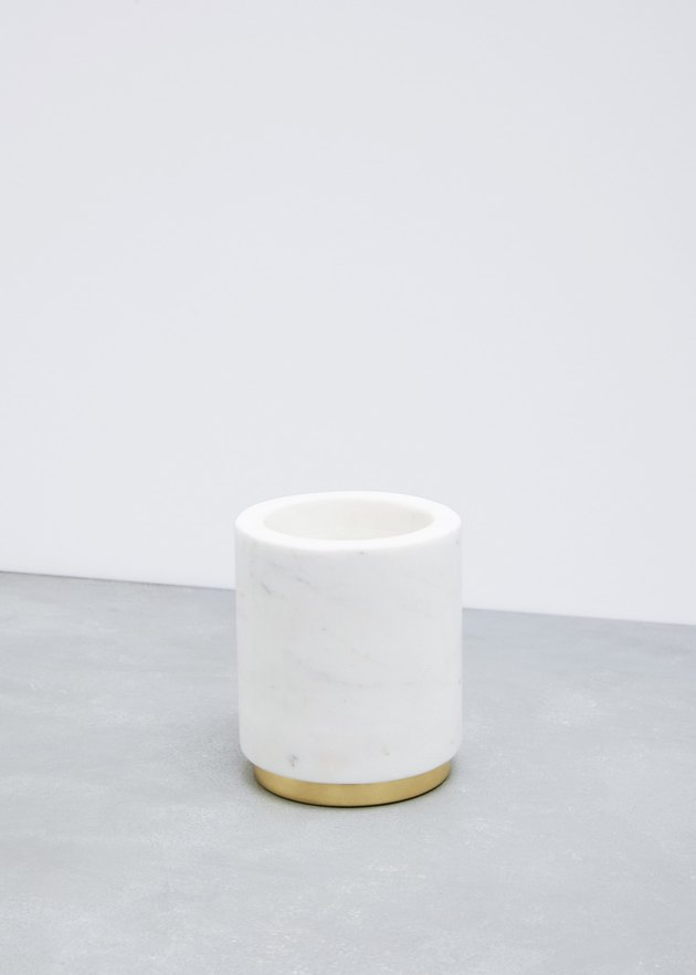 Marble and Brass Utility Canister