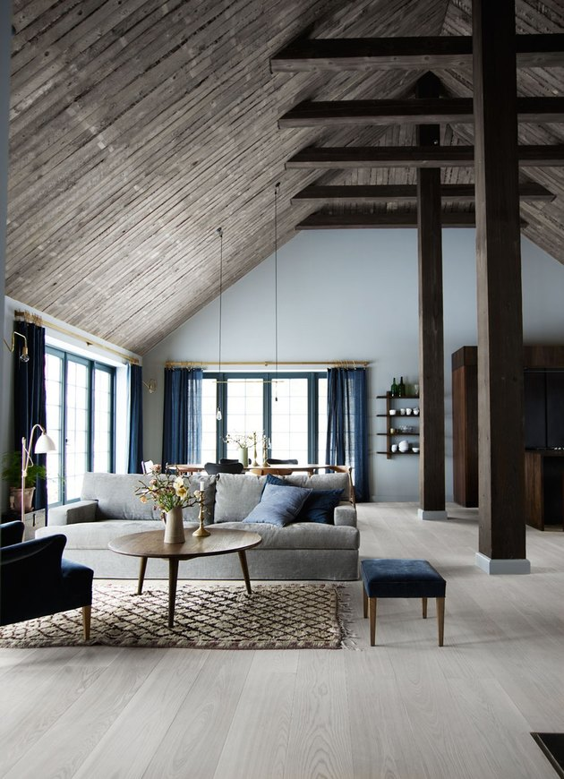 sophisticated wood beams