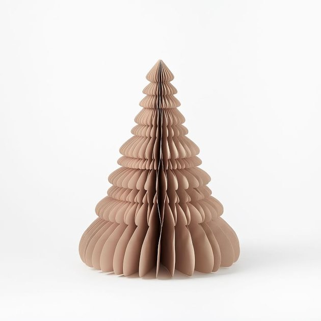 Blush accordion paper tree