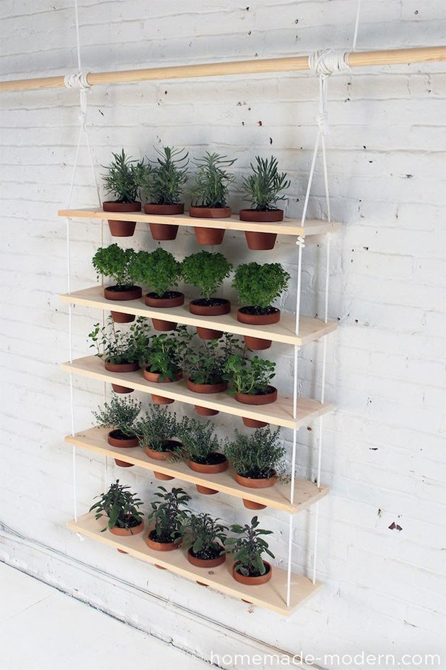 hanging shelves vertical garden