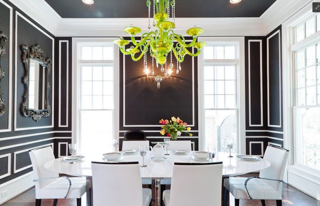 interior paint color black paint dining room