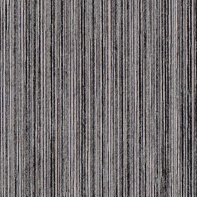 Black and gray thinly-striped wallpaper swatch