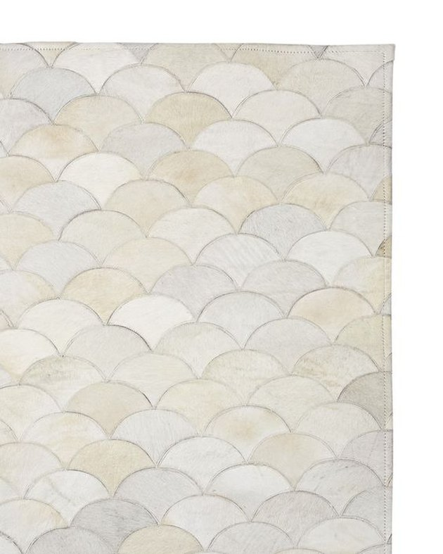 Scalloped Hide Rug